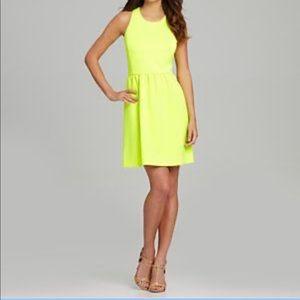 🆕 Gianni Bini Neon Yellow Zelda Dress Sleeveless